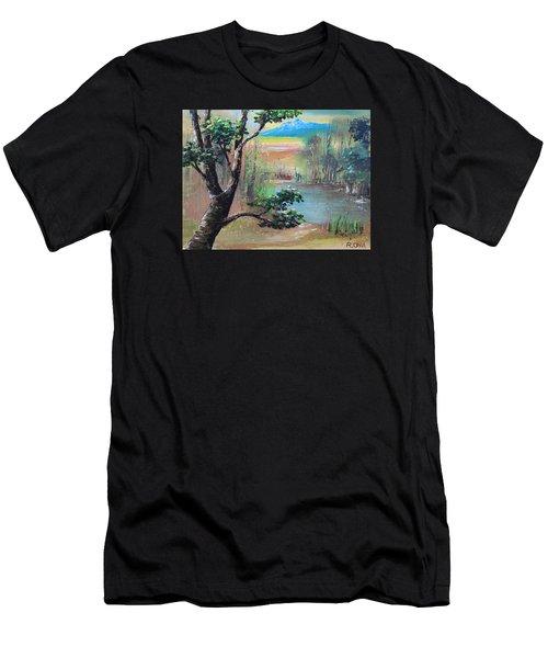 Summer Leaves Men's T-Shirt (Athletic Fit)
