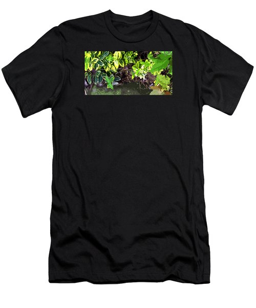 Men's T-Shirt (Slim Fit) featuring the photograph Summer Leaves by Spyder Webb