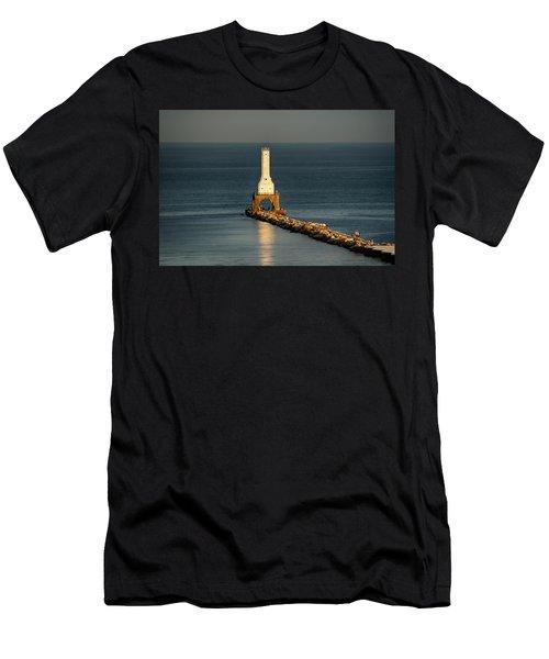 Summer Lighthouse Men's T-Shirt (Athletic Fit)
