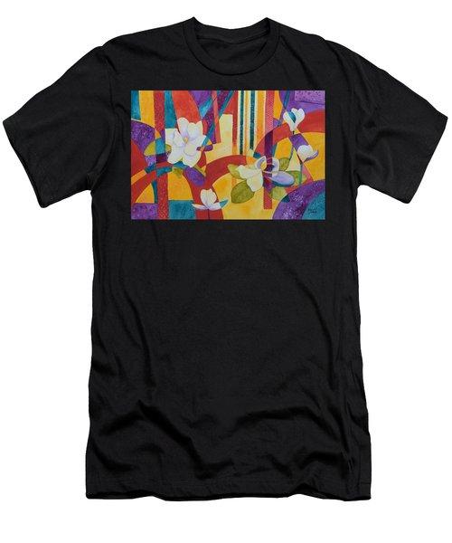 Summer Magnolias Men's T-Shirt (Athletic Fit)