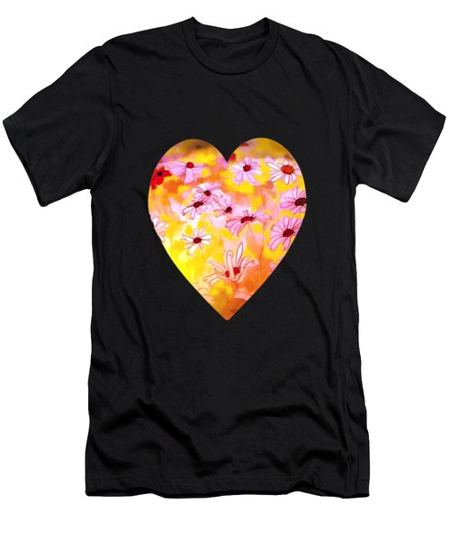 Summer Meadows-floral Painting By V.kelly Men's T-Shirt (Athletic Fit)