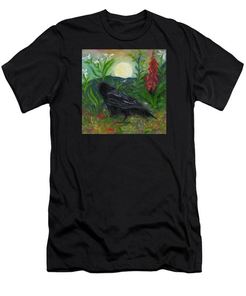 Summer Moon Raven Men's T-Shirt (Athletic Fit)
