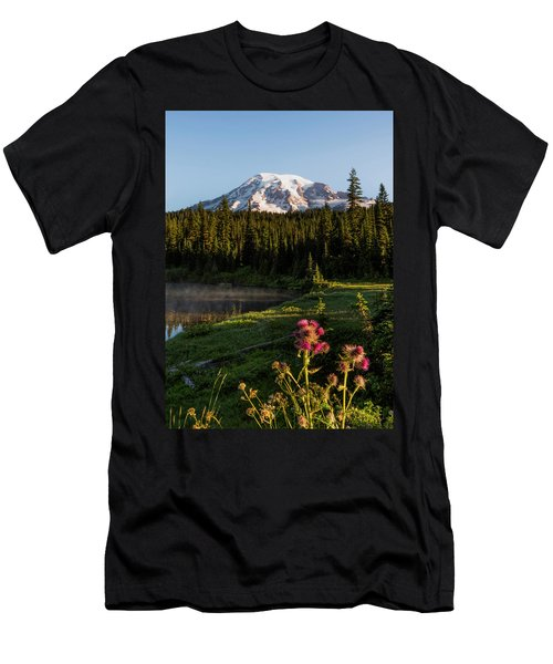 Summer Morning At Mt Rainier Men's T-Shirt (Athletic Fit)