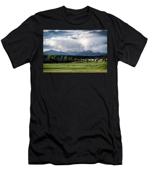 Summer Mountain Paradise Men's T-Shirt (Athletic Fit)