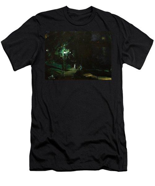 Summer Night Riverside Drive Men's T-Shirt (Athletic Fit)