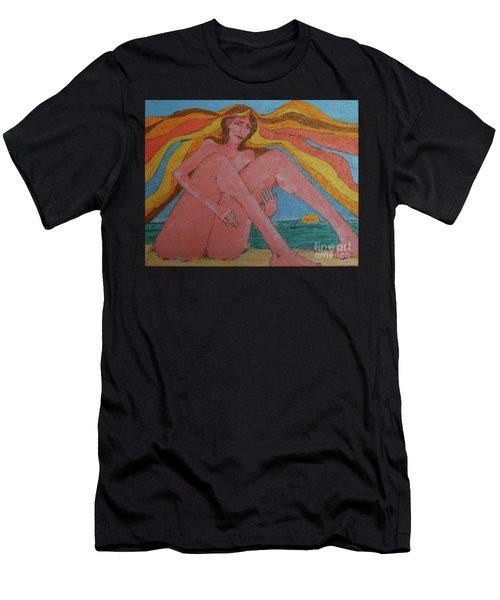 Summer Ocean Breeze  Men's T-Shirt (Athletic Fit)