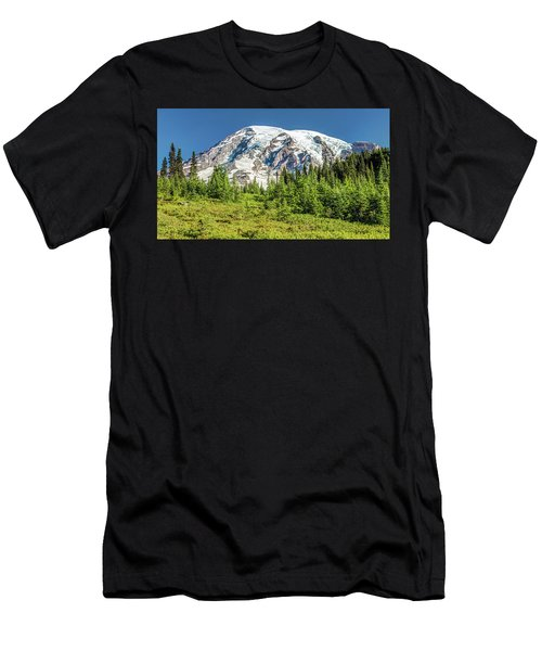 Men's T-Shirt (Athletic Fit) featuring the photograph Summer On Mount Rainier by Pierre Leclerc Photography