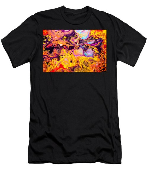 Summer Play  - Abstract Colorful Mixed Media Painting Men's T-Shirt (Athletic Fit)