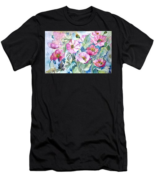Summer Poppies Men's T-Shirt (Athletic Fit)