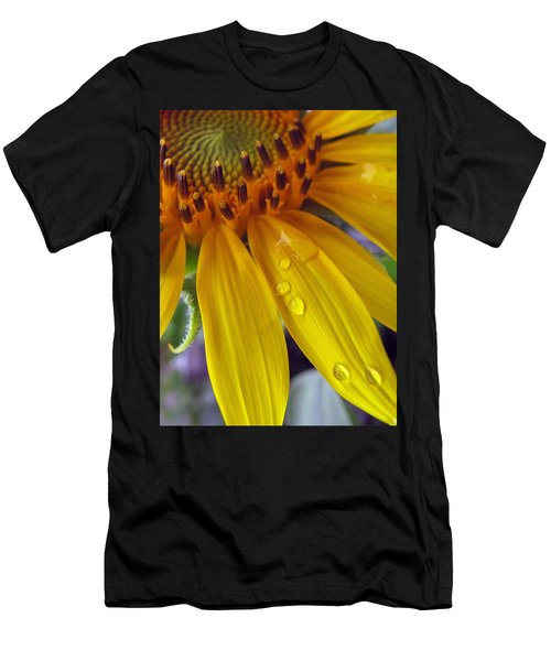 Summer Rain On Sunflower Men's T-Shirt (Athletic Fit)