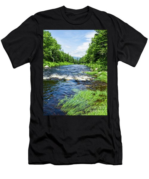 Summer Scene Rangeley Maine  -70742 Men's T-Shirt (Athletic Fit)