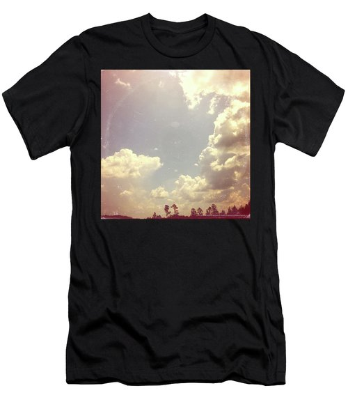 Summer Skies As Vintage Album Art Men's T-Shirt (Athletic Fit)