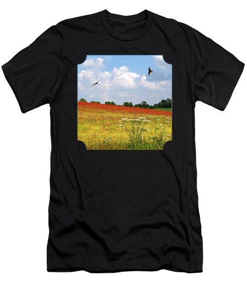 Summer Spectacular - Red Kites Over Poppy Fields Men's T-Shirt (Athletic Fit)