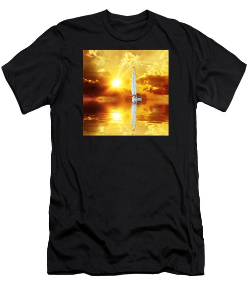 Summer Sun And Fun Men's T-Shirt (Athletic Fit)