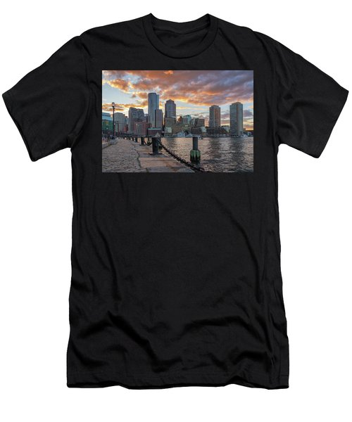 Summer Sunset At Boston's Fan Pier Men's T-Shirt (Athletic Fit)