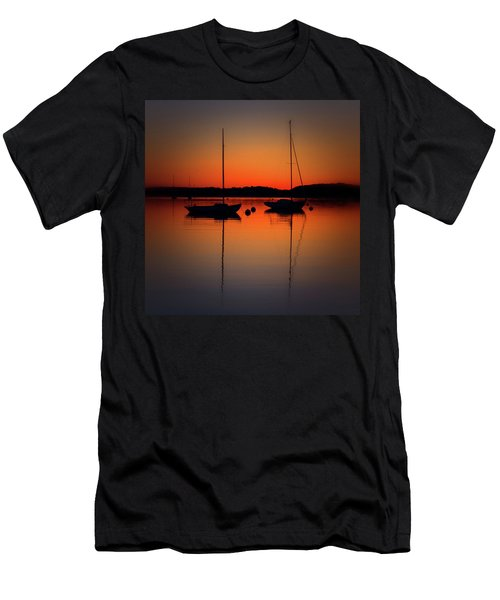 Summer Sunset Calm Anchor Men's T-Shirt (Athletic Fit)