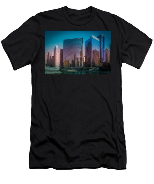 Summer Sunset In Chicago Downtown  Men's T-Shirt (Athletic Fit)