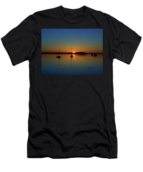 Summer Sunset Monument Beach Men's T-Shirt (Athletic Fit)