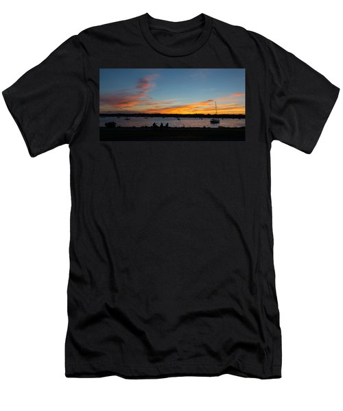 Summer Sunset With Friends Men's T-Shirt (Athletic Fit)