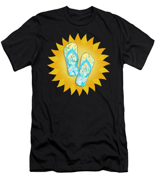 Summer Sunshine And Blue Flip-flops Men's T-Shirt (Athletic Fit)