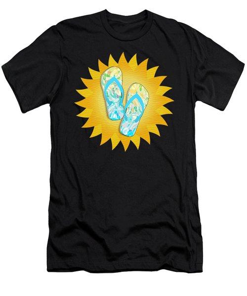 Summer Sunshine And Blue Flip-flops Men's T-Shirt (Athletic Fit)