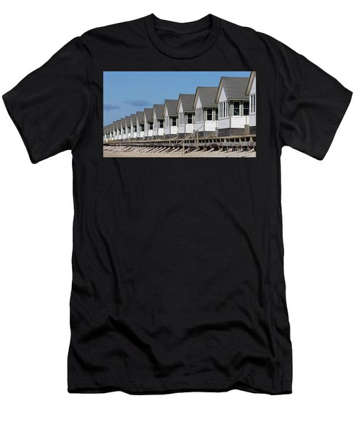Summer Vacation Cottages At The Beach Men's T-Shirt (Athletic Fit)