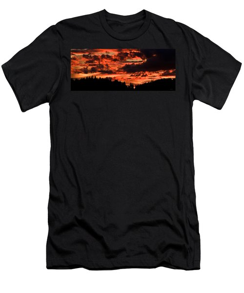 Summer's Crimson Fire Men's T-Shirt (Athletic Fit)