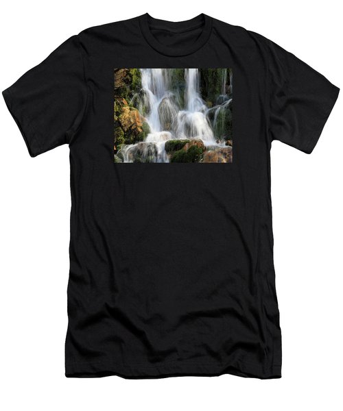 Summit Creek Waterfalls Men's T-Shirt (Athletic Fit)