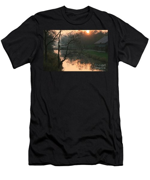 Sun Above The Trees Men's T-Shirt (Slim Fit) by Paula Guttilla