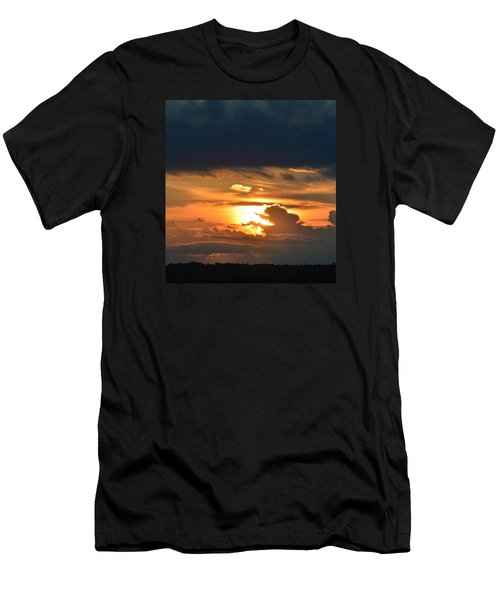 Men's T-Shirt (Slim Fit) featuring the photograph Sun And Dark Clouds  by Lyle Crump