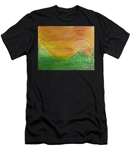 Sun And Grass In Harmony Men's T-Shirt (Athletic Fit)