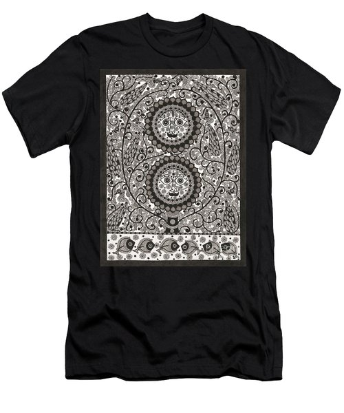 Sun And Moon Men's T-Shirt (Athletic Fit)