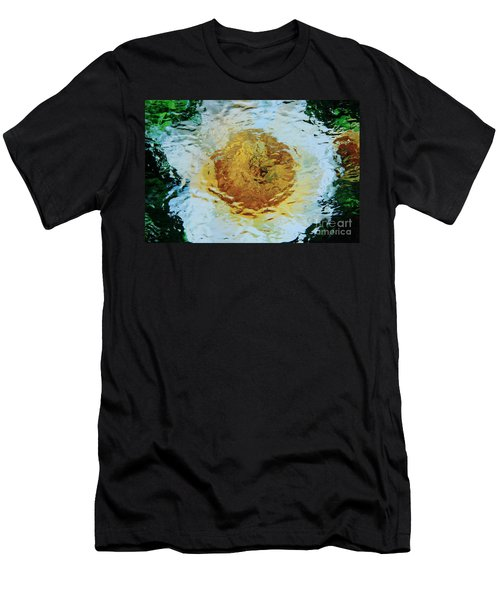 Sun And Moon Peony Impression Men's T-Shirt (Slim Fit) by Jeanette French