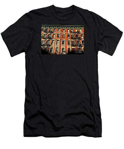 Sun And Shadow - The Rhythm Of New York Men's T-Shirt (Slim Fit) by Miriam Danar