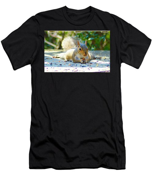 Sun Bathing Squirrel Men's T-Shirt (Athletic Fit)