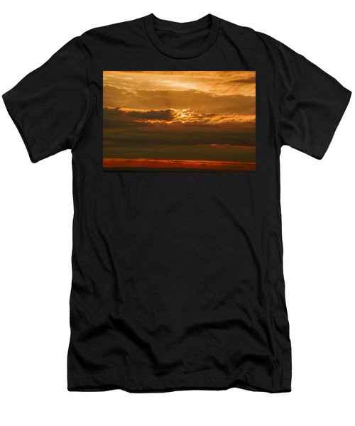 Sun Behind Dark Clouds In Vogelsberg Men's T-Shirt (Athletic Fit)