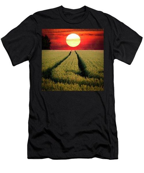 Sun Burn Men's T-Shirt (Slim Fit) by Teemu Tretjakov