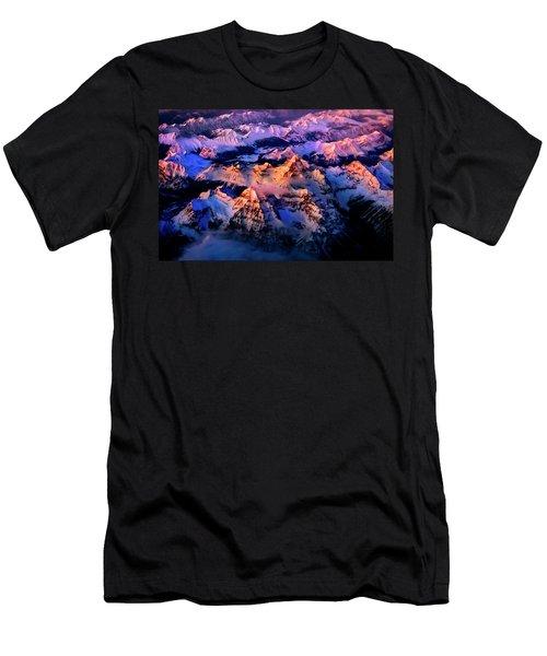 Men's T-Shirt (Athletic Fit) featuring the photograph Sun Catcher - Assiniboine by John Poon