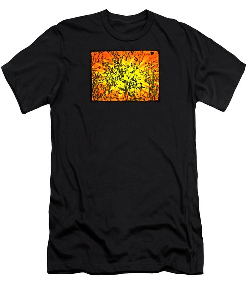Men's T-Shirt (Slim Fit) featuring the photograph Sun Dappled Leaves by Robin Regan