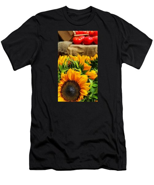 Sun Flowers And Tomatoes Men's T-Shirt (Slim Fit) by Bruce Carpenter