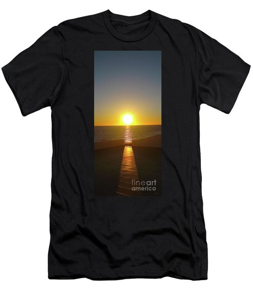 Sun Gazing Men's T-Shirt (Slim Fit) by Gem S Visionary