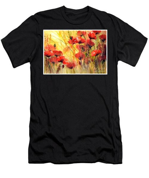 Sun Kissed Poppies Men's T-Shirt (Athletic Fit)