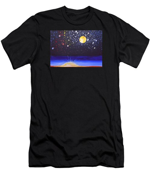 Sun Moon And Stars Men's T-Shirt (Athletic Fit)