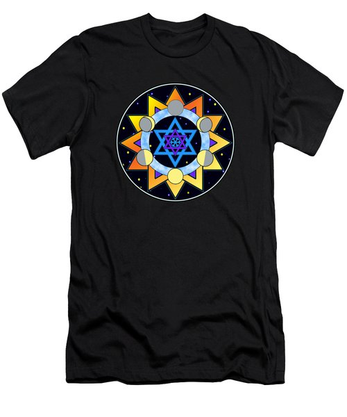 Sun, Moon, Stars Men's T-Shirt (Athletic Fit)