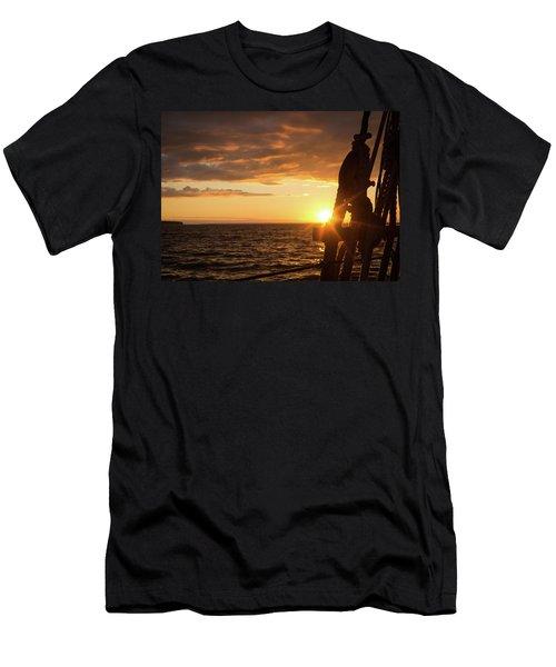 Sun On The Horizon Men's T-Shirt (Athletic Fit)