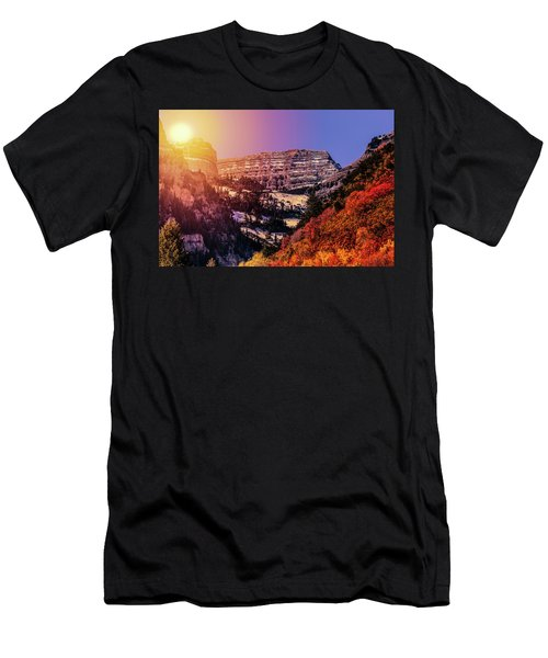 Sun On The Mountain Men's T-Shirt (Athletic Fit)