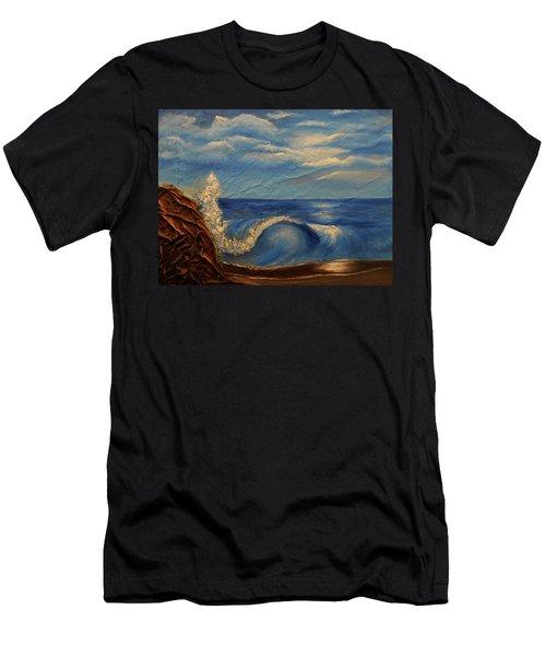 Sun Over The Ocean Men's T-Shirt (Slim Fit) by Angela Stout