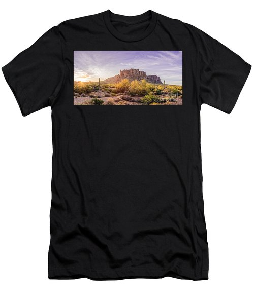 Sun Peaking At Lost Dutchman State Park - Apache Junction Arizona Men's T-Shirt (Athletic Fit)