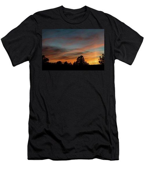 Sun Pillar Sunset Men's T-Shirt (Athletic Fit)