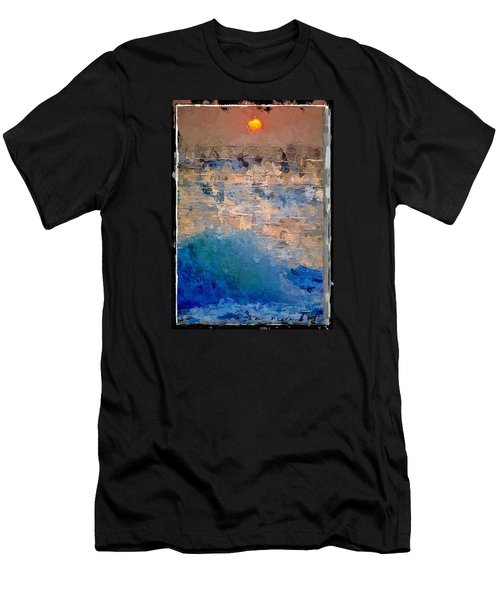 Sun Rays Abstract Men's T-Shirt (Athletic Fit)